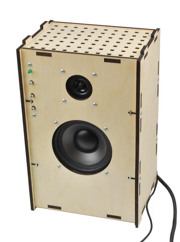 Laser-cut Speaker With Amplifier