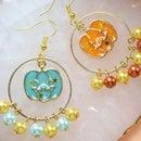 Beebeecraft Tutorial on How to Make Pearl Pumpkin Earrings