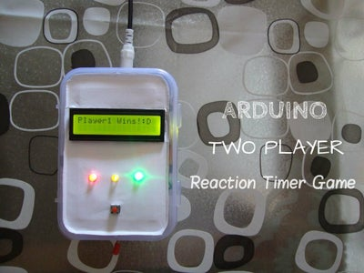 Arduino Two Player Reaction Timer Game
