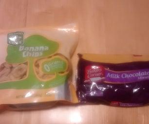 Banana Chip Chocolate Bars