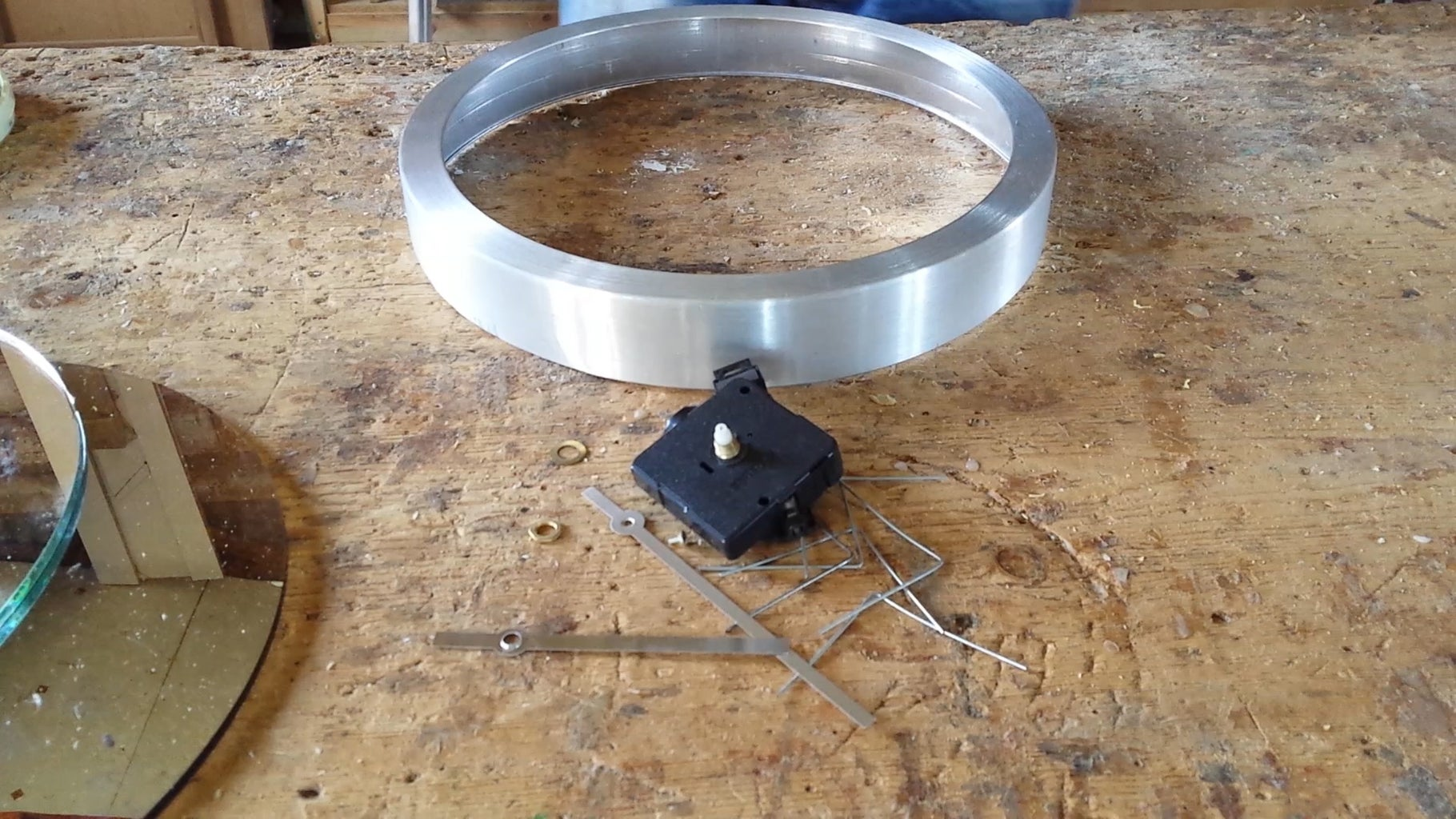 Disassemble the Old Clock and Prepare the Rim