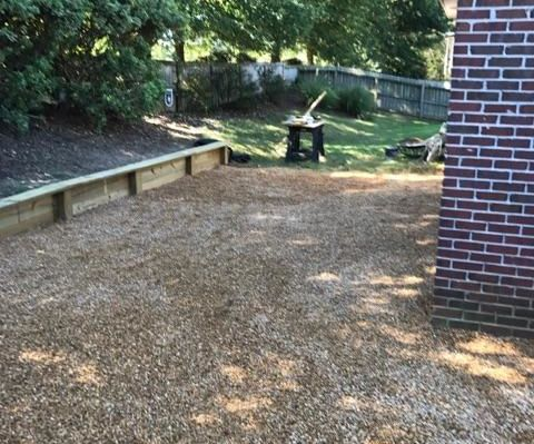 Outdoor Wooden Retaining Wall