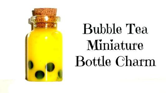 Miniature Bubble Tea Bottle Charm