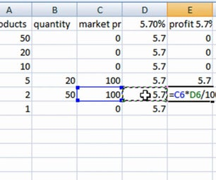 Excel Sum Percentage Multiply Formula