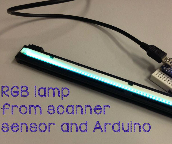 Scanner light and Arduino as an RGB lamp