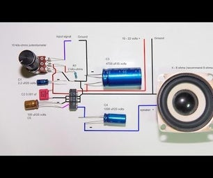 2.5 Watts Amplifier Lm380n Stable Wiring.