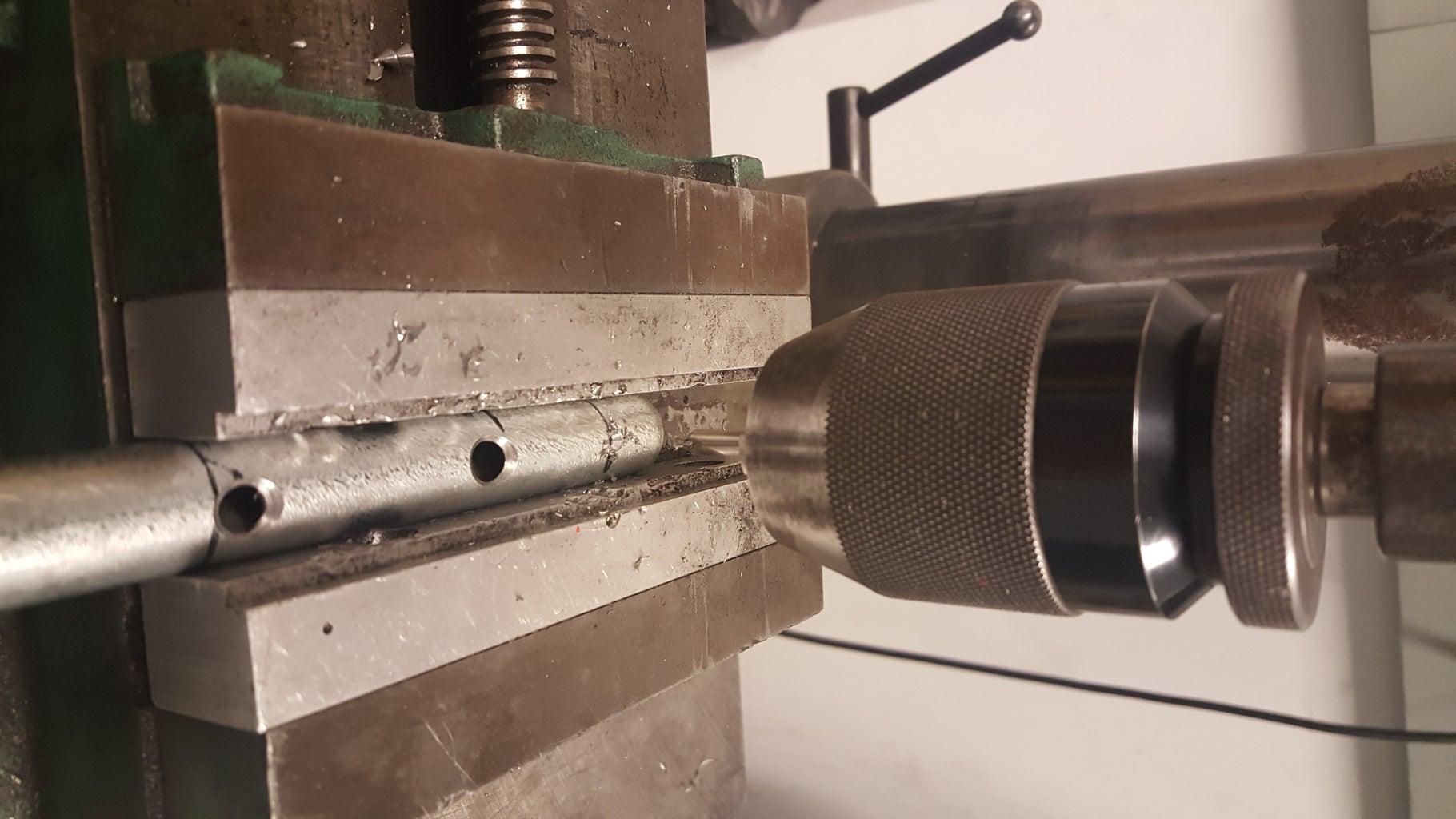 Shaft: Drilling Pin Holes
