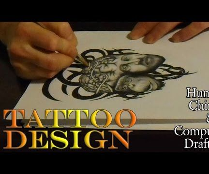 Tattoo Design - Human, Chimp & Computer - Draft #3
