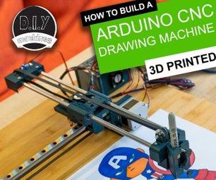 Simple 3D Printable Arduino CNC Drawing Machine