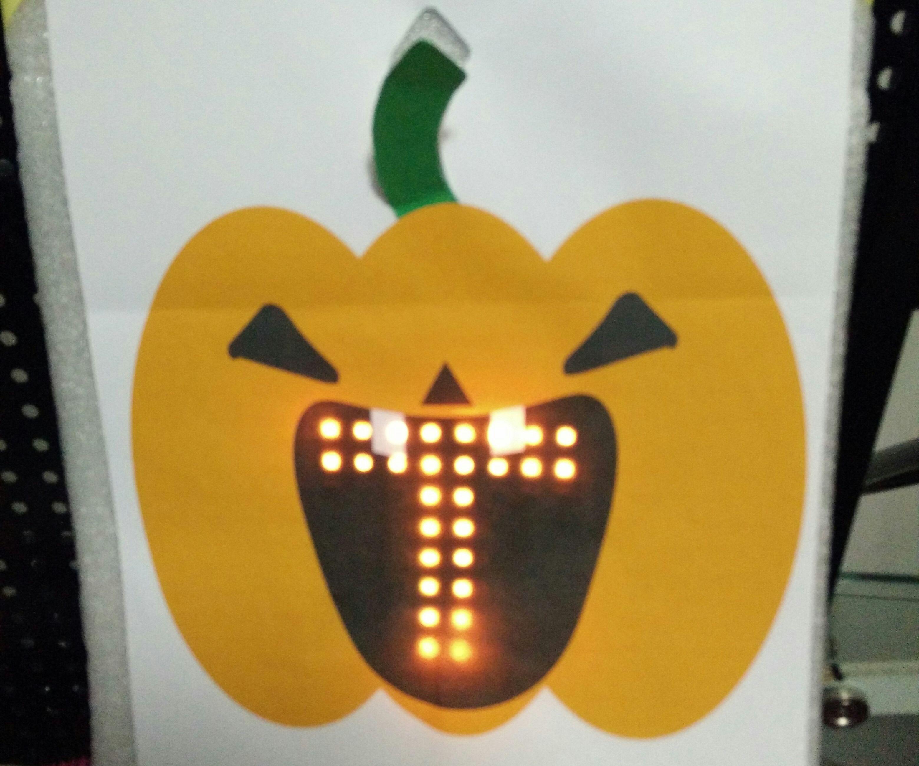 Jack-O-Lantern with LED Matrix