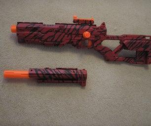 Nerf Longstrike Red Tiger