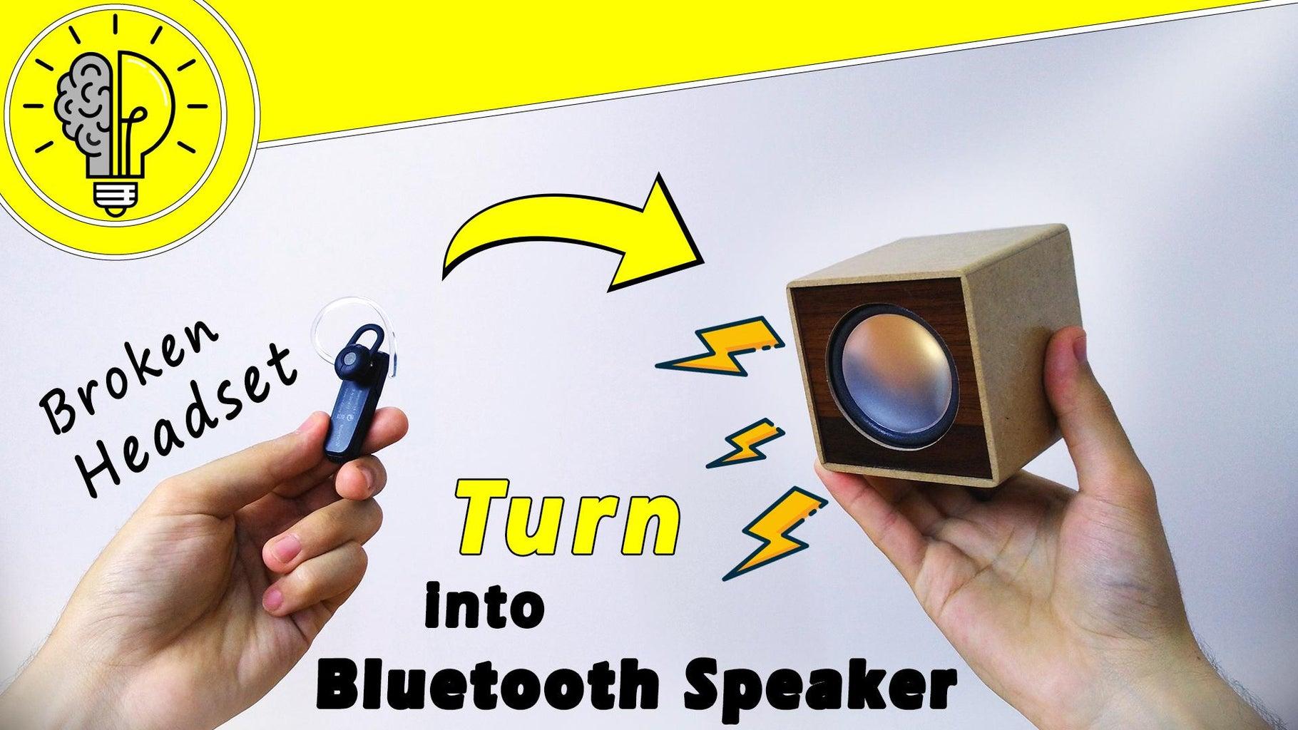 DIY Bluetooth Speaker (how-to)