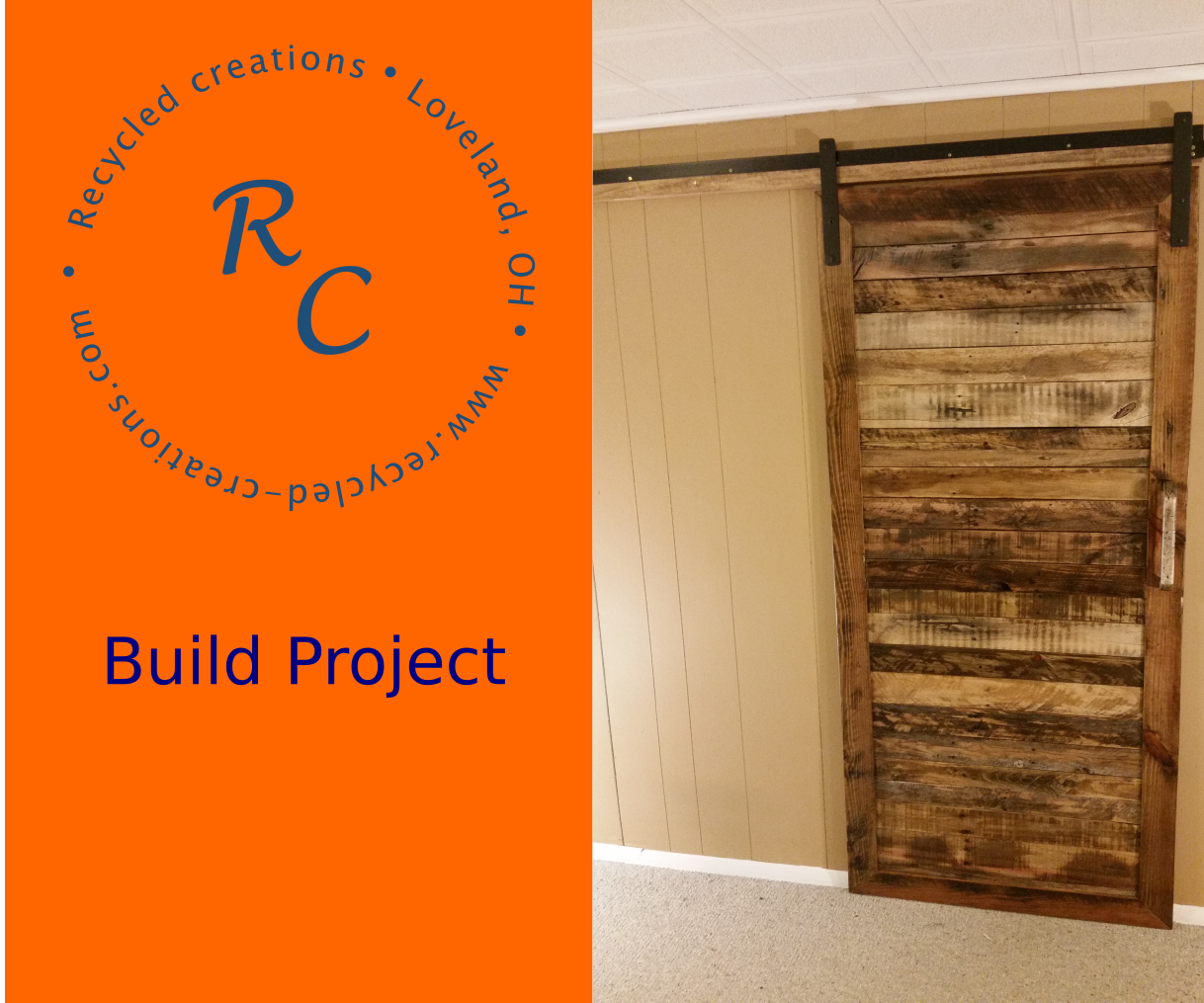 How to make an Up-Cycled Pallet wood Sliding Barn Door