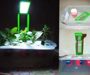 Automated Hydroponic Garden From Junk