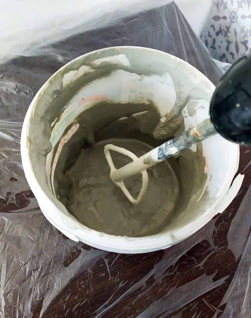 Mixing the Plaster