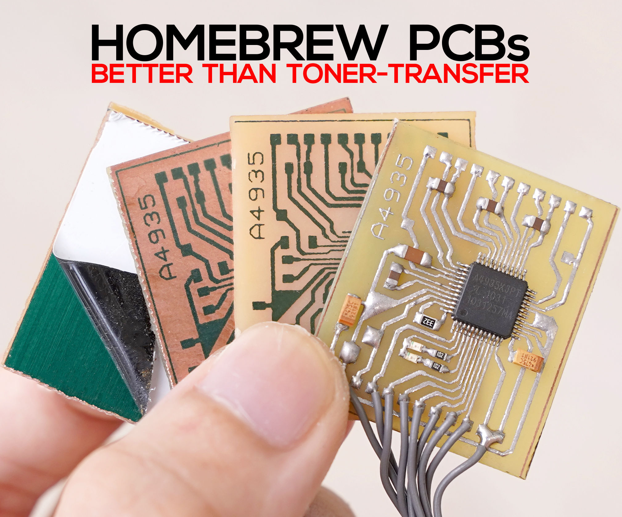 Single Sided PCB Home Fabrication