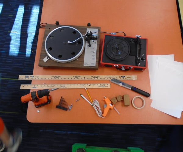 Making a Drawing Machine From Record Players