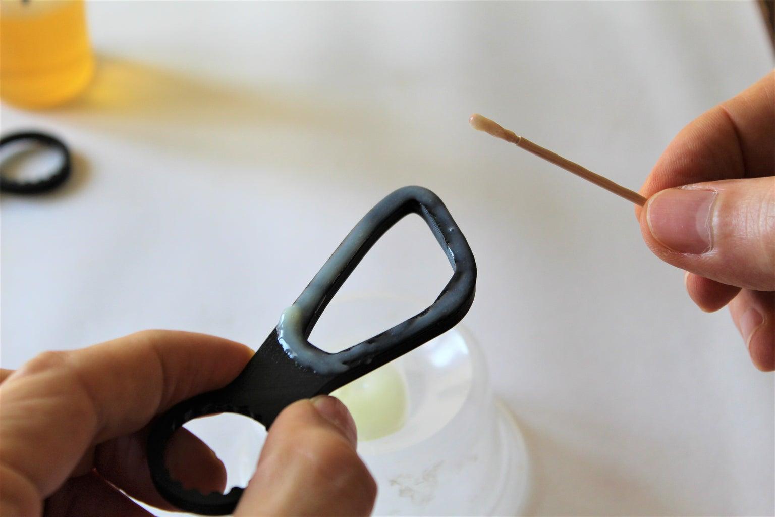 Gluing the Lens Holder