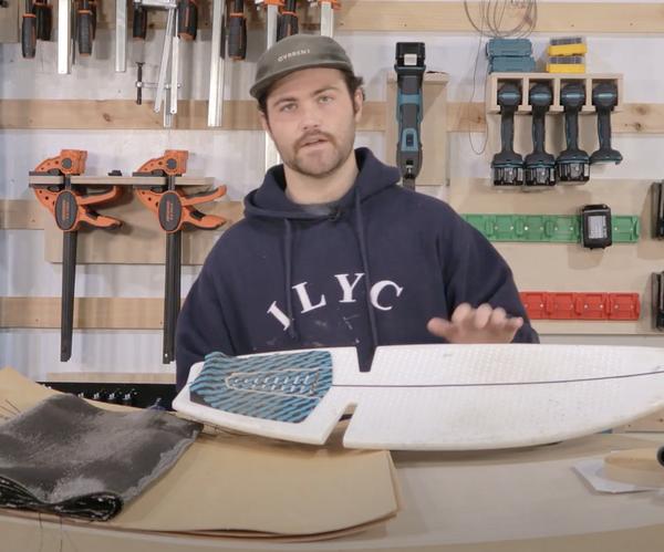 DIY复合叠层和真空袋 - 制作碳纤维ripsurf用于盲文滑板