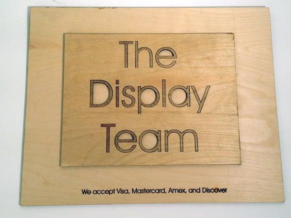 Custom Laser Cut Office Sign