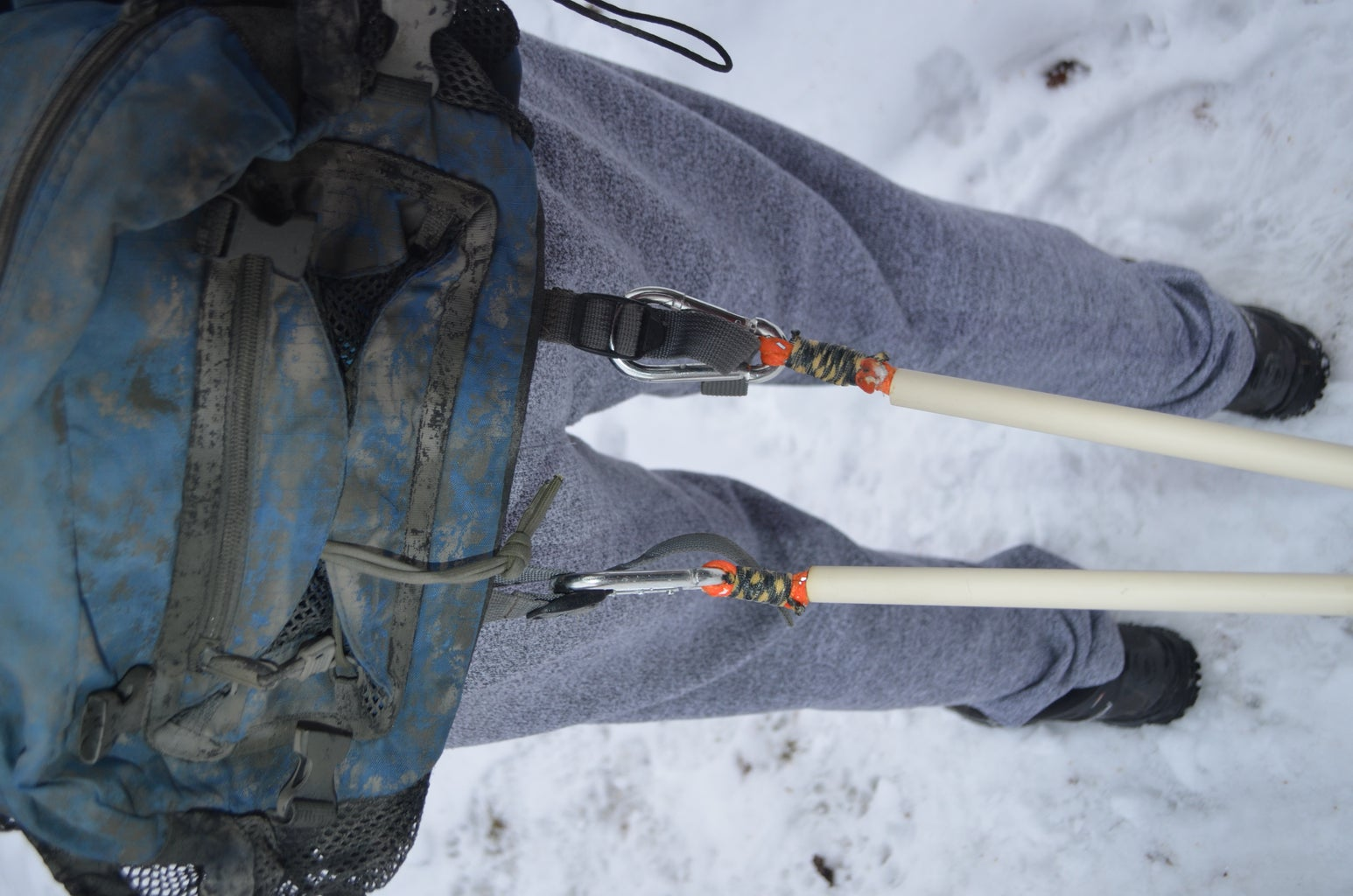 Clip Your Sled to Your Waist Belt.