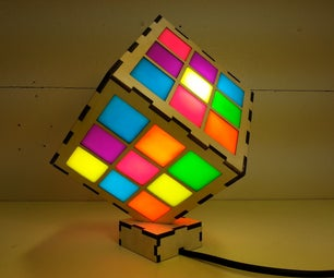 Neon Cube Light