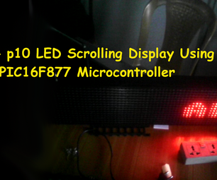 16x64 P10 Scrolling LED Display Using PIC16F877 Microcontroller