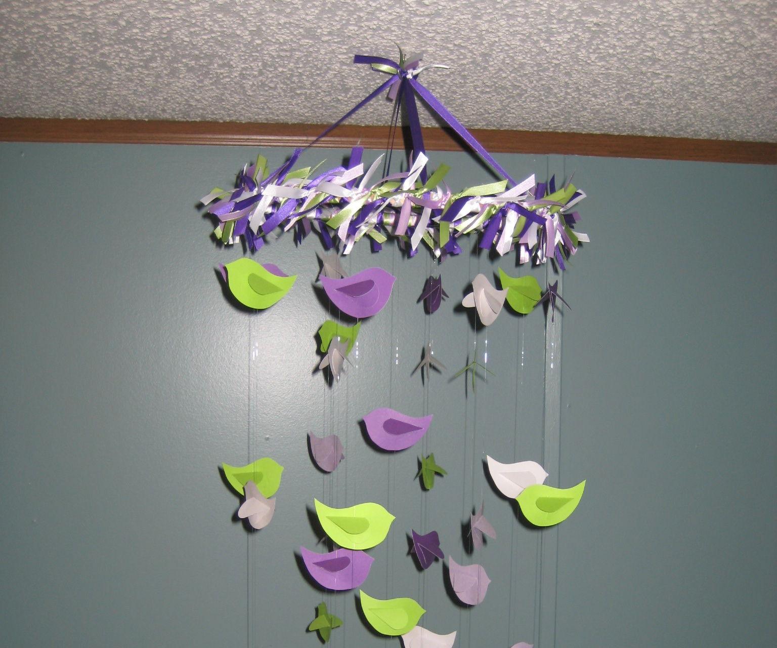 Paper Bird Mobile