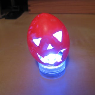 Etched Eggshell Votive Shadow Lamp