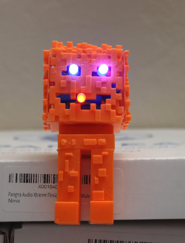 3D Printed Minecraft Pumpkin Figure (Made in Fusion 360)