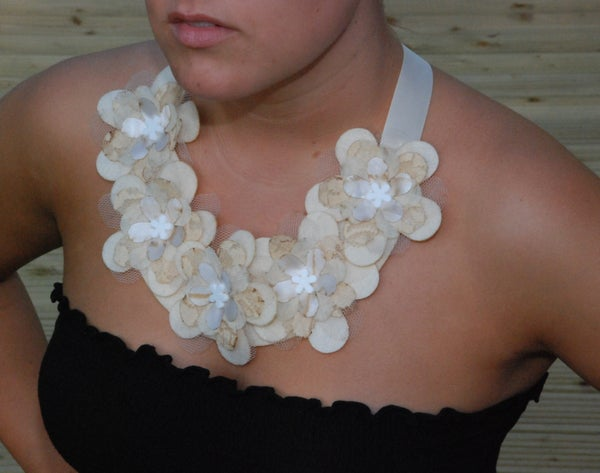 Laser Cut Layered Flower Necklace