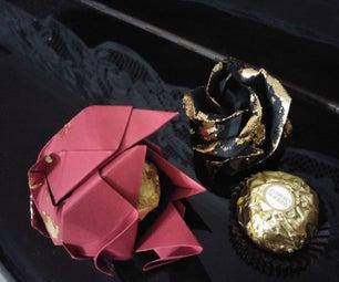 Origami Rose Ferrero Rocher礼物恩惠