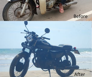 Old Cd125 Benly Transforming to a Cafe Racer