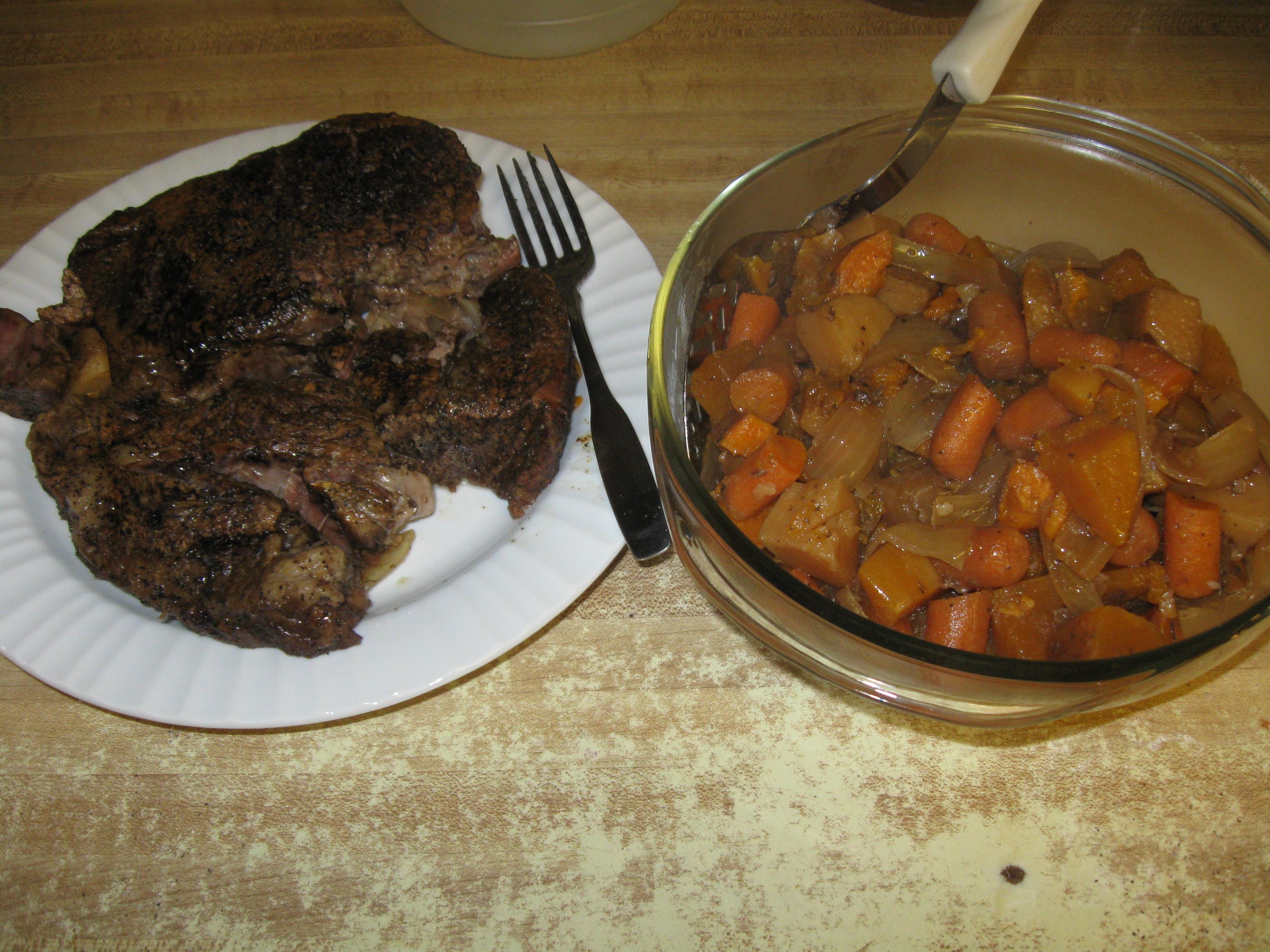 Slow Cooker Pot Roast and Veggies