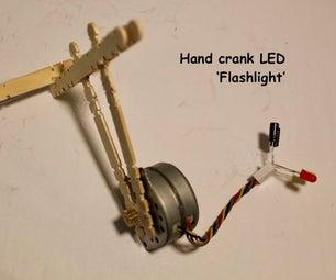 Hand Crank LED 'flashlight'