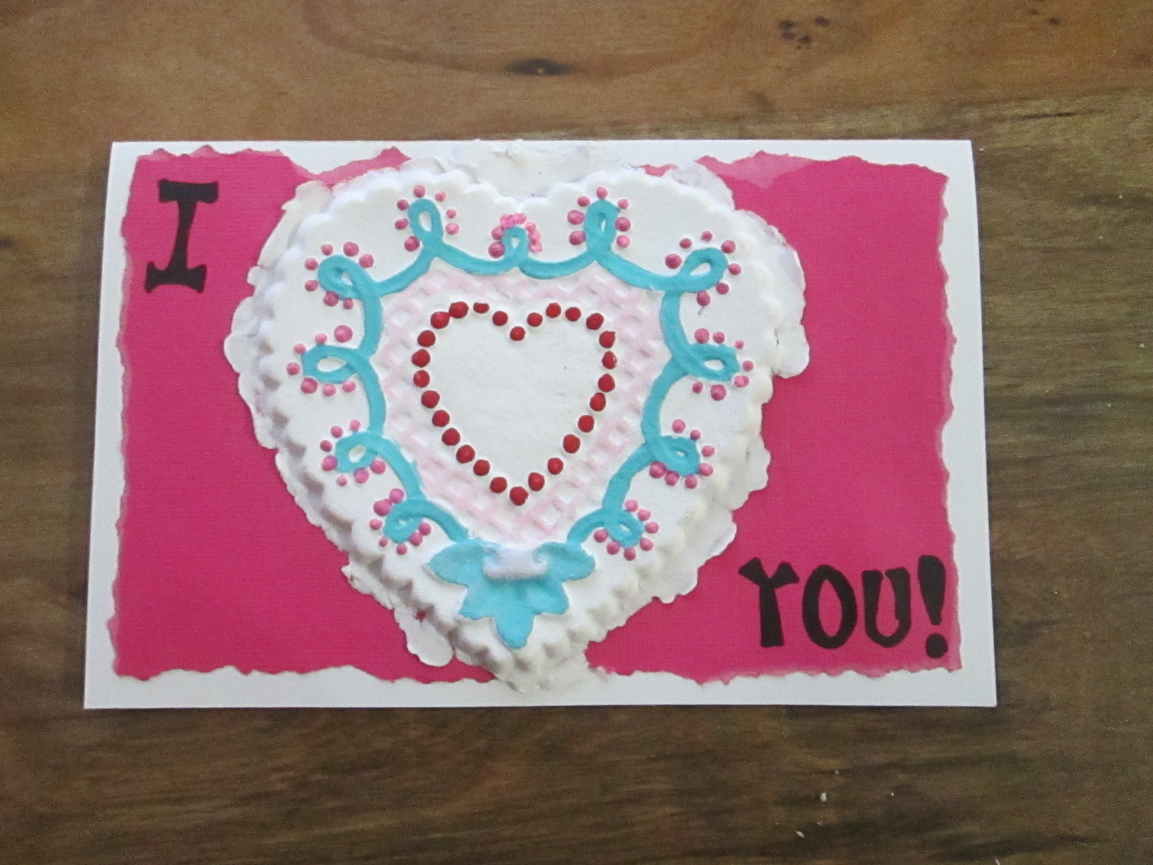 Brown Bag Mold Paper Casting for Valentine's Day