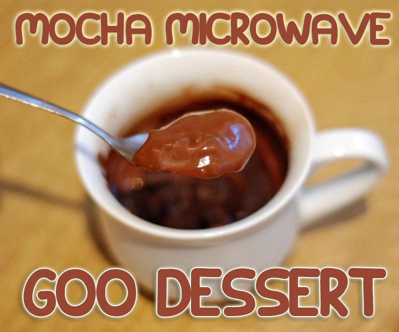 Mocha Microwave Goo Dessert