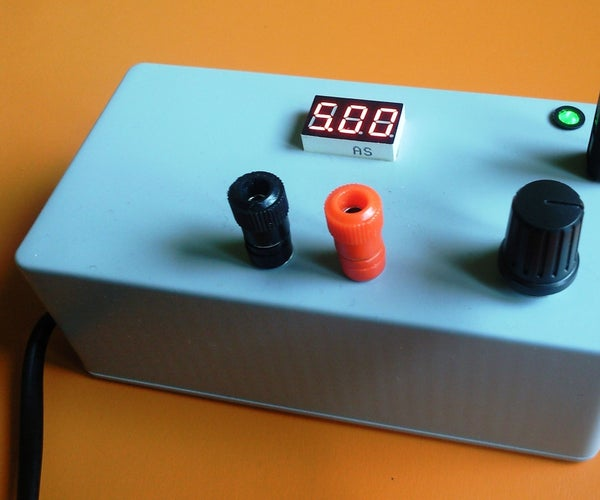 Arduino Controlled Power Supply Source
