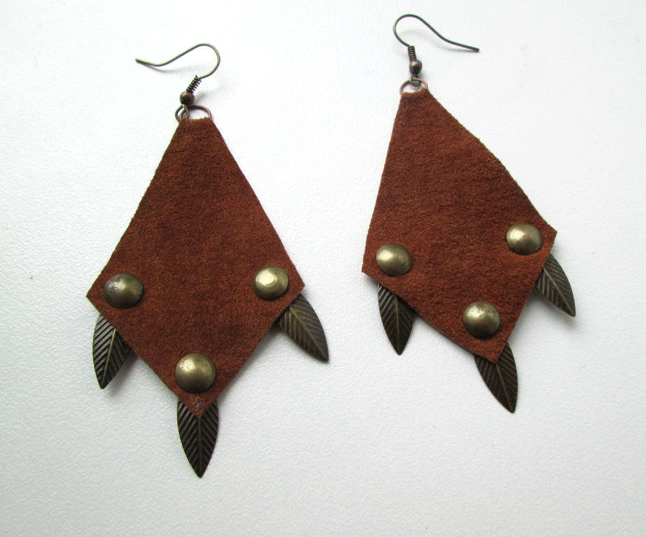 Upcycled Leather Earrings - 10 Various Designs