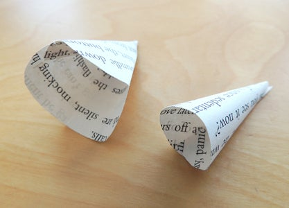Make the Other Paper Shapes Into Cones