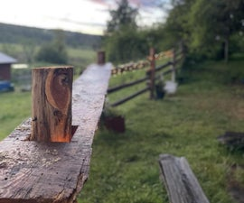 Fixing a Fence With a Live Edge Bar Top