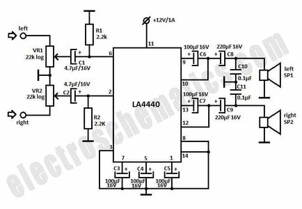 Electronic Connections and Circuit Diagram.