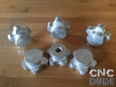 Custom Made Knobs on Your CNC Mill