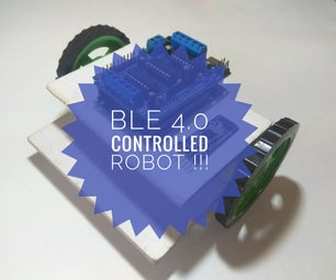 SMARTPHONE CONTROLLED ROBOT USING BLE 4.0 !!!