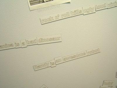 Laser Cut Magnetic Poetry