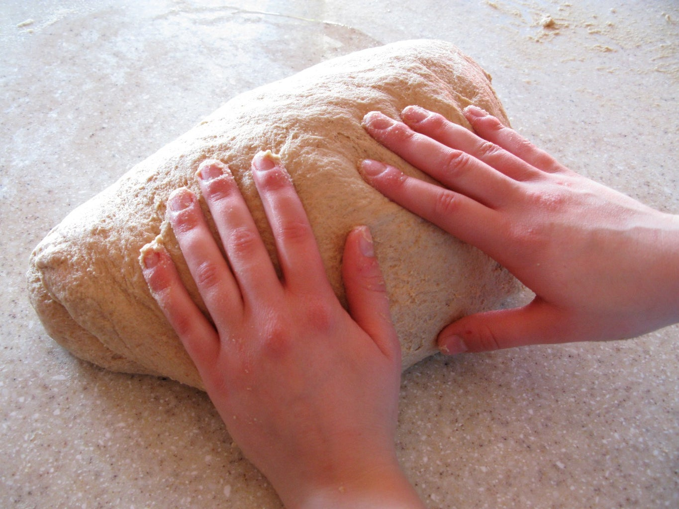 Grind, Mix, Knead, Shape, Rise, Bake (without Bosch)