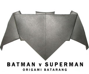 Batman V Superman: Origami Batarang