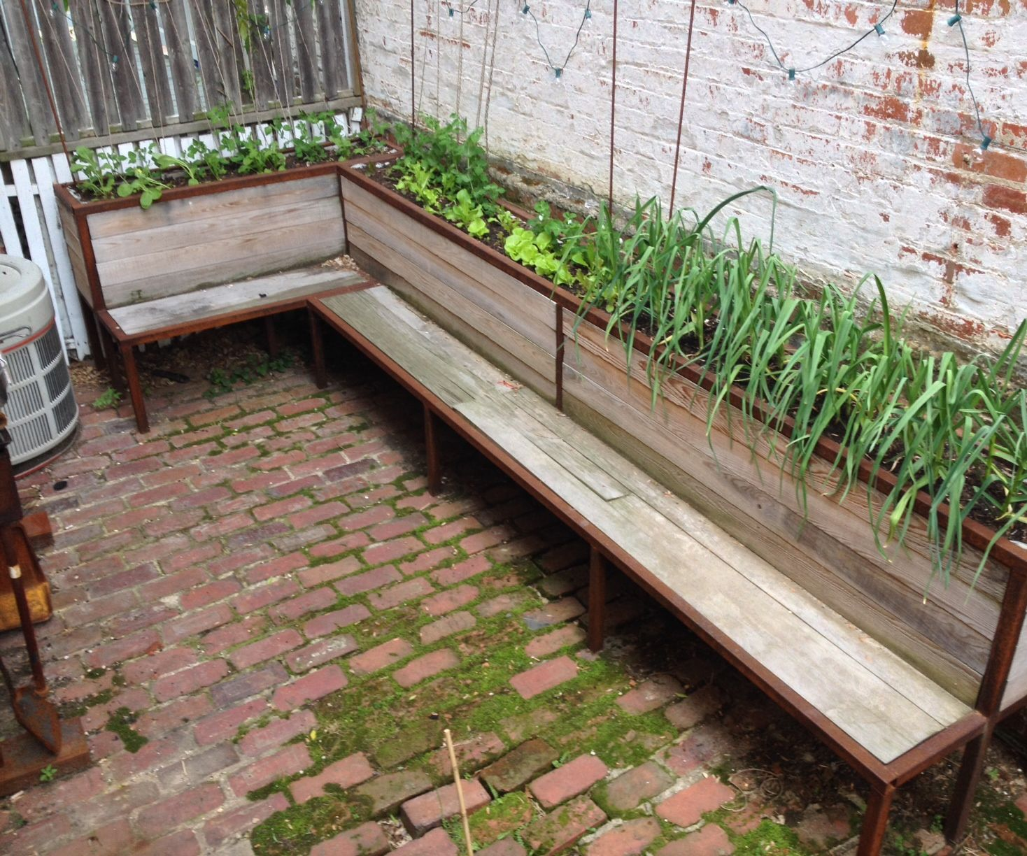Backyard planter and seating
