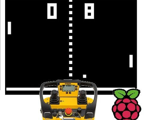 Raspberry Pi  - Playing Pong With Crane Remotes