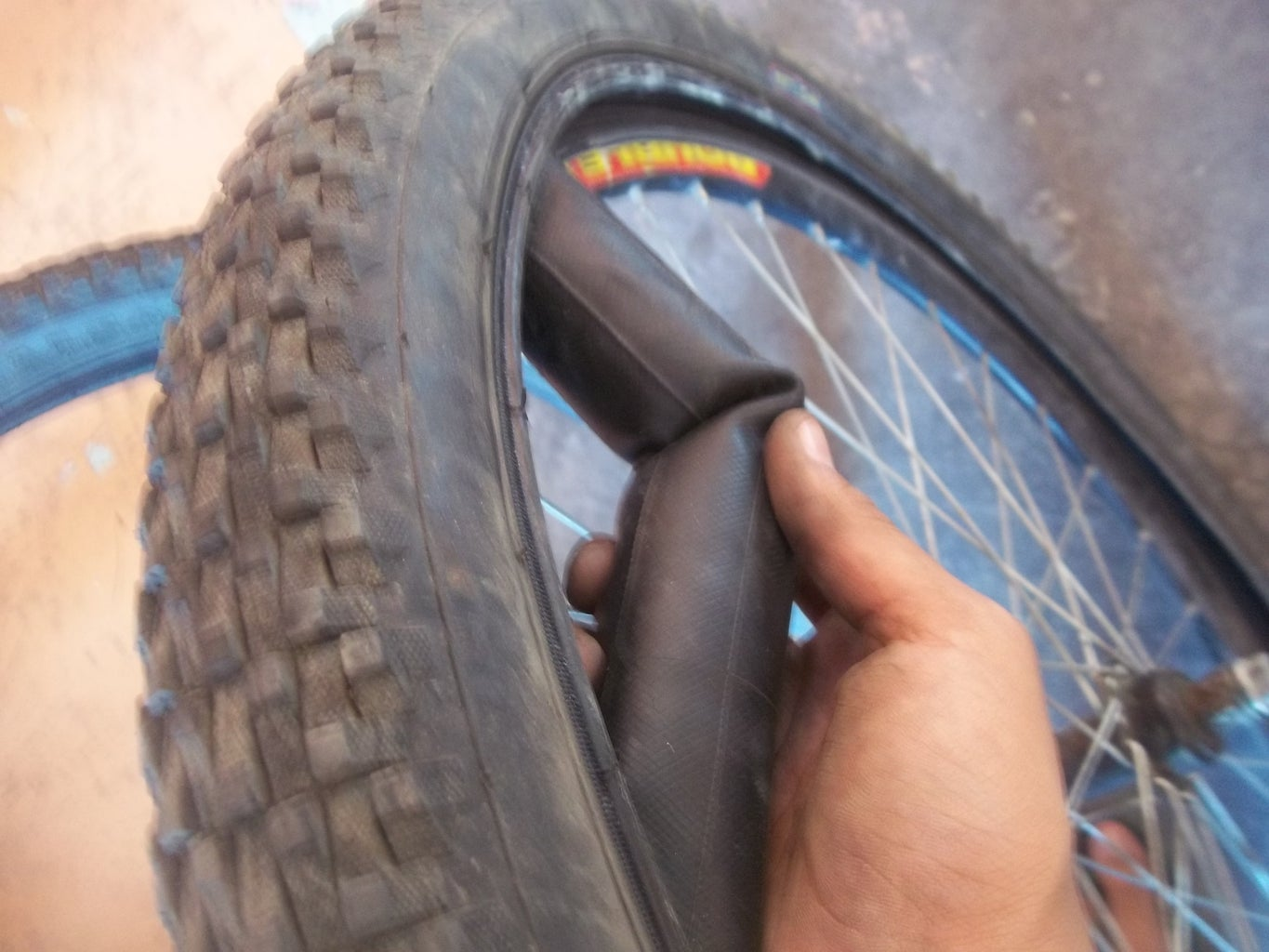 Removing the Tire From the Rim.